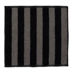 Kaksi Raitaa handdoek grijs-zwart 30x30 cm