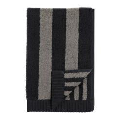 Kaksi Raitaa handdoek grijs-zwart 30x50 cm
