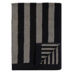 Kaksi Raitaa handdoek grijs-zwart 50x100 cm