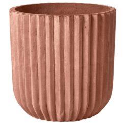 Fiber bloempot Terracotta