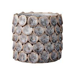 Hettie bloempot 12 cm Flint stone (grijs)