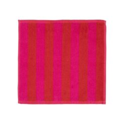 Kaksi Raitaa handdoek rood Mini handdoek