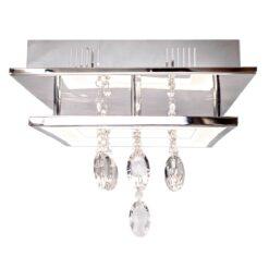 Shinto plafondlamp 35x35 cm Chroom