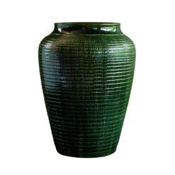Willow vaas geglazuurd 30 cm Green emerald