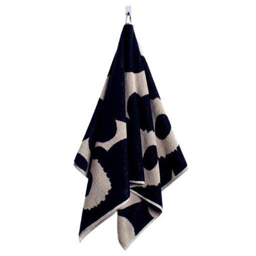 Unikko handdoek zwart-zand handdoek
