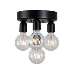 Regal 4 plafondlamp Matzwart