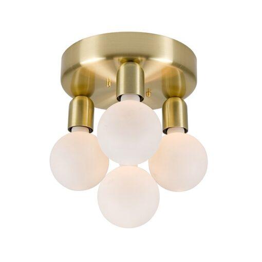 Regal 4 plafondlamp Messing