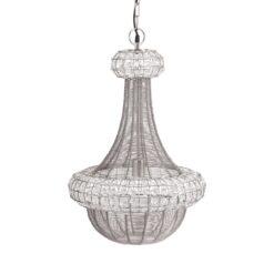 Saba plafondlamp 42 cm Zilver