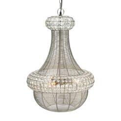 Saba plafondlamp 51 cm Zilver