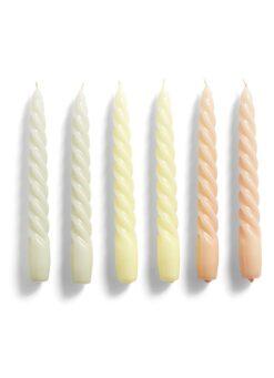 Hay Candle Twist kaars set van 6