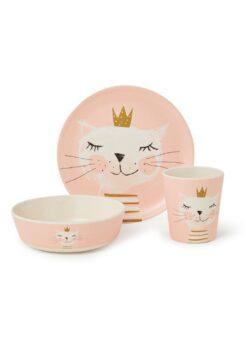 ppd Birthday Cat kinderservies 3-delig