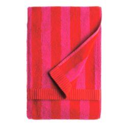 Kaksi Raitaa handdoek rood badhanddoek