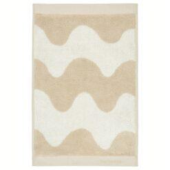 Lokki handdoek beige-wit 30x50 cm