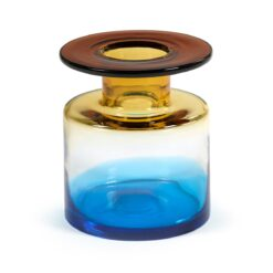 Wind & Fire vaas 22 cm Blue-amber