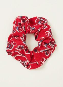 ba&sh Chaipur scrunchie met bloemenprint