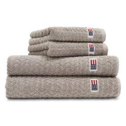 Icons Structured handdoek 30x50 cm Dark gray